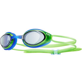 TYR Black Hawk Racing Googles Juniors Smoke/Flou Green